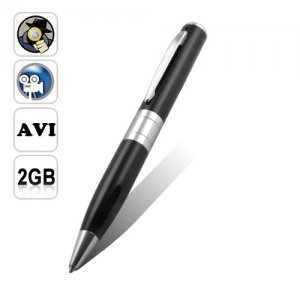 Spy Camera Pen Support Audio + Video Recording with 2GB Memory Card